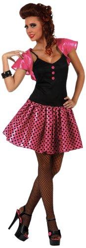 Atosa - 10355 - Costume - Déguisement Femme Années 60 Rose - Taille 2