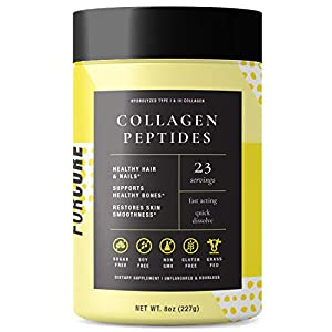 Forcore Hydrolyzed Bovine Collagen Peptides – Skin, Joint, Bone Boost Protein Powder – Grass-Fed, Pasture Raised Beef Source – No Gluten, Soy, Sugar – Mix with Shake, Smoothie, Coffee, Oatmeal