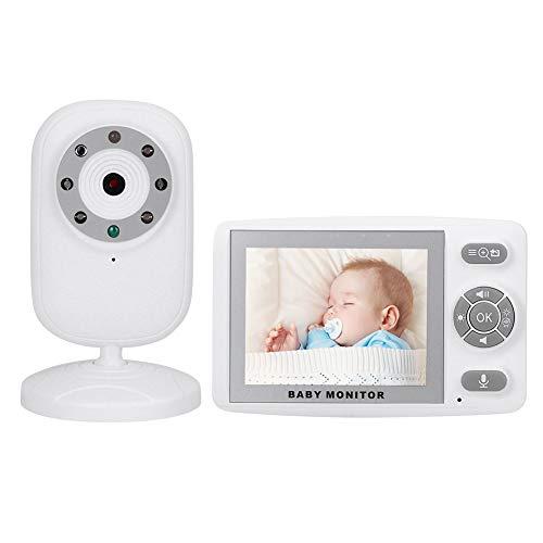 Monitor de Video para bebés Cámara de Seguridad para el hogar Cámara Inteligente Monitor para niños pequeños con Pantalla LCD de 3,5 Pulgadas,Función de Despertador VOX y Audio bidireccional(Blanco)