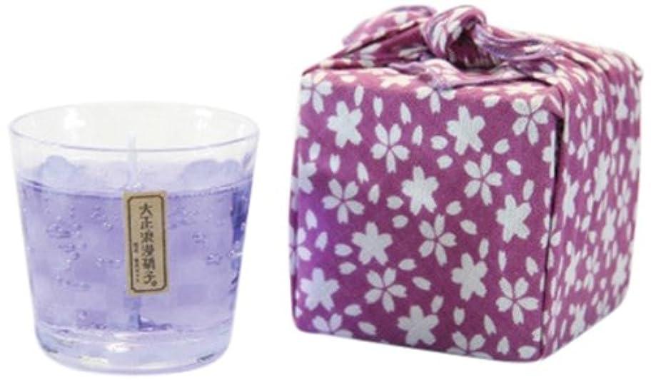 フェード一般化する風江戸キャンドル カラーキャンドル 苔 市松/青紫 kou×伝統工芸 大正浪漫硝子