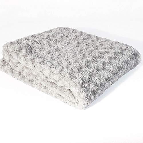 douceur d'intérieur 3001817 HIMALAYA Plaid Polyester Gris 130 x 160 cm