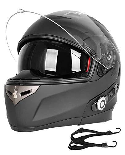 Motorcycle Bluetooth Helmets BM2-S XL Motorcycle Helmet Bluetooth, Built-in Intercom Communication System,Modular Flip-Up Helmets, 3 Riders paring, 500M 2 Riders intercom,with FM,Support Siri
