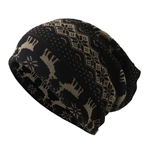 Luoluoluo muts heren dames kerst print wintermuts unisex winter beanie warme gebreide muts vrouwen mannen werkmuts hoeden skimuts