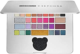 Moschino + Sephora Laptop Eyeshadow Palette! 30 Shades In Matte, Satin, And Shimmer Finishes! High-Pigment, Smooth And Blendable Eye Makeup! Paraben Free, Gluten Free and Cruelty Free!