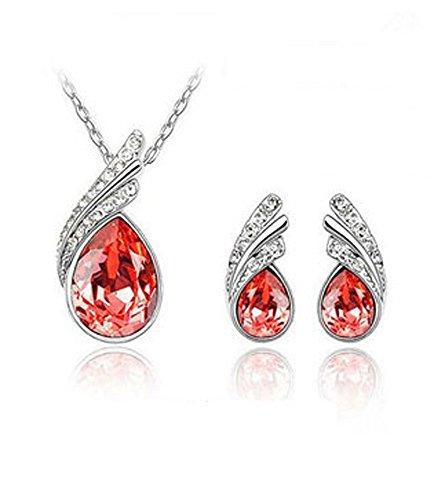 Celebrity Elements Mujer metal común Water Drop circonita cristal