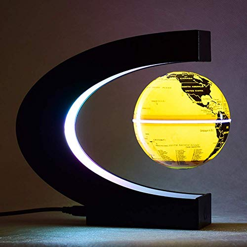 FEE-ZC Festival Deko Licht Geheimnisvoll schwebender rotierender Magnetglobus Best