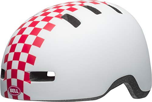 Bell Unisex Jugend Lil Ripper Fahrradhelm, mat White/pink Checkers, Uni Toddler