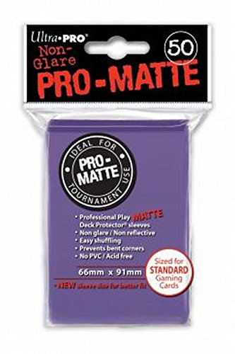 Ultra Pro - 330585 - Jeu De Cartes - Housse De Protection - Pro-Matte - Pourpre - D12