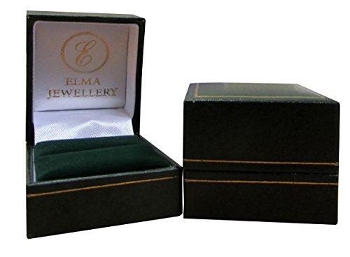 7mm Men's Diamond Engagement Ring Titanium and Silver Centre 5 Channel Set Diamond Unisex Ring 0.15ct