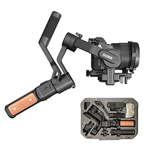 FeiyuTech AK2000s Gimbal Camera Handheld Stabilizer with Versatile Handle LCDscreen for DSLR Camera Sony a6300 a6400 a6500 Canon M50 EOS Panasonic Nikon Fujifilm(Advanced Version),Official-Authorized