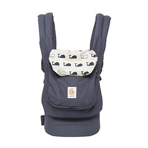 Ergobaby Babytrage Original Marine, 3-Positionen Ergonomische Babytragetasche Kindertrage, Baby Tragesystem von 5.5 bis 20kg