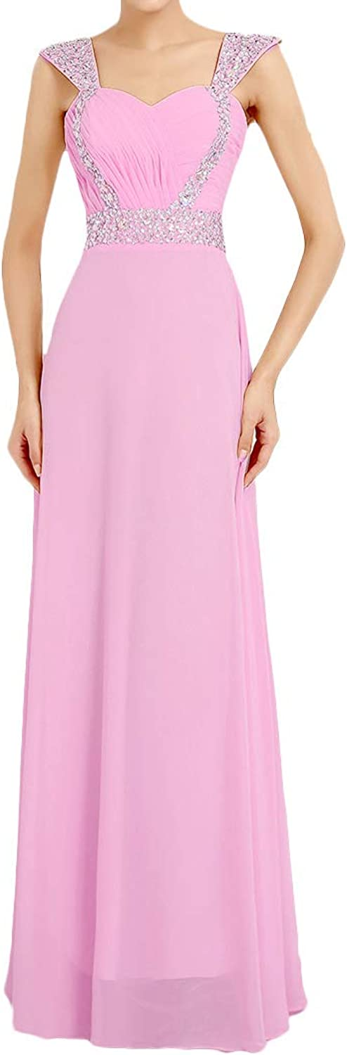 Baixia Womens Straps Wedding Party Long Prom Evening Bridesmaid Dresses Gowns