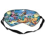 DJNGN Máscara para dormir de Winnie The Pooh, venda personalizada, cubierta de ojos suave y cómoda, cubierta de ojos opaca (una correa)