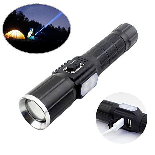 Starall 7 modes d'éclairage lampe de poche 1000 lumens Super Bright Lampe de poche T6 LED lampe torche pour le camping, randonnée, d'urgence SOS, la chasse
