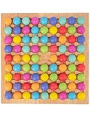 thorityau Träpärlor pussel leksak pussel magiskt schackspel barn hjärna träning brädspel Montessori pedagogiska leksaker barn föräldrar interaktion familjespel leksaker