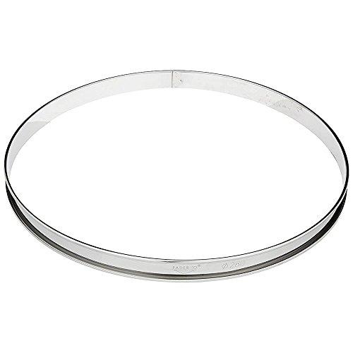 Paderno World Cuisine - Anello da pasticceria in acciaio INOX, 10 1/4'