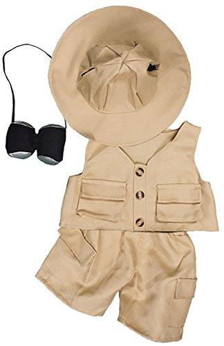 Teddy Mountain NY Safari-Outfit Outfit paßt die meist 14 bis 18 Build-a-Bear und Erstellen Sie Ihr eigenes Kuscheltier