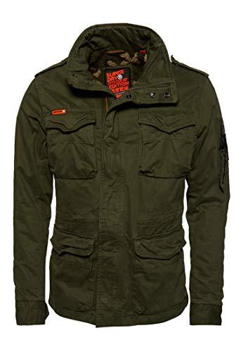 Superdry Classic Rookie 4 Pocket Jacket Chaqueta, Verde (Deep Depth S6y), S para Hombre