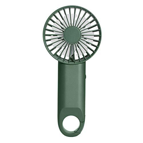 BESPORTBLE Mini Ventilador Eléctrico de Mano Potente con Mosquetón Clip USB Recargable Pequeño Ventilador de Refrigeración para La Oficina Al Aire Libre Mini Ventilador Personal Verde