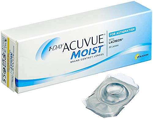 Acuvue 1-Day Moist for Astigmatism Tageslinsen weich, 30 Stück / BC 8.5 mm / DIA 14.5 / CYL -1.75 / Achse 60 / -8.00 Dioptrien