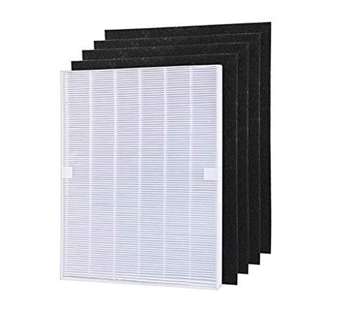 Zyj stores Luftreinigerteile 4 Stück Luftreiniger-Teile Carbon Pre-Filter und 1 Stück Haupt HEPA Filter for WINIX 115115 5300 5500 6300 Ersetzen