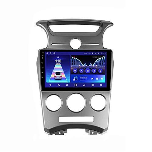 2 DIN Car Stereo Radio De Coche De 9 Pulgadas HD Pantalla Táctil Bluetooth Manos Libres Radio Auto FM/USB/DSP con Cámara De Visión Trasera, para Kia Carens UN 2006-2012,Quad Core,WiFi 1+32