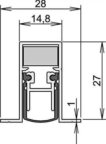 Athmer Türdichtungen Schall-Ex DUO® L-15/28 OS | Länge (mm): 958