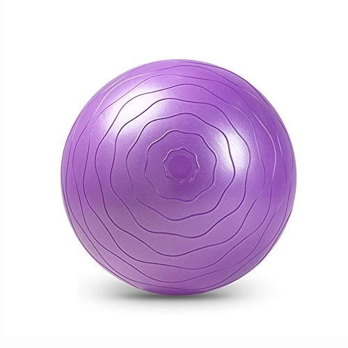 YBZS Explosionsgeschützter Yoga-Ball,Gewichtsverlust Yoga-Ball/Explosionsgeschützte Antiblockier/Trag 500 Kg/Umweltfreundliche Material/Zellschaum,Lila