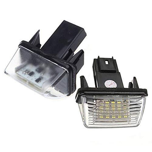 Boomboost 2pcs Aucune Erreur LED Numéro de Plaque d'éclairage Lampe arrière pour Peugeot 206 207 306 307 pour Citroen C3 C4 C5 Car Styling