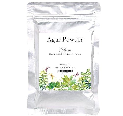 Natural Agar Agar Powder, Vegetable Gelatin Dietary Fiber - [100% Pure Agar, 4oz]
