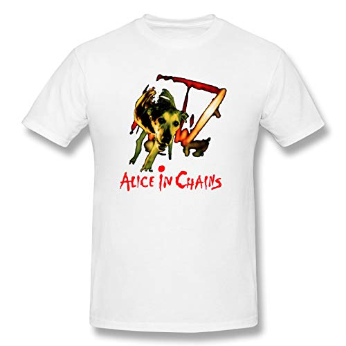 Alice In Chains Dog Man Short Sleeve T-Shirt Music Unique T-Shirts White 3XL
