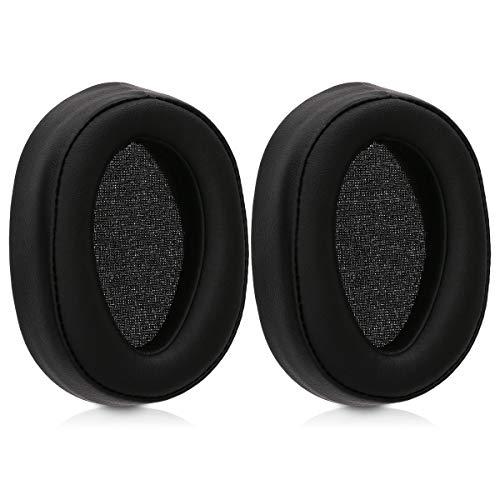 kwmobile 2X Ohrpolster kompatibel mit Sony MDR-100ABN h.Ear Kopfhörer - Kunstleder Ersatz Ohr Polster für Overear Headphones