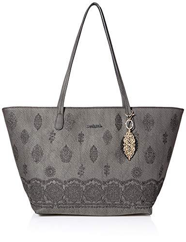 Desigual - Bag Paola Capri Zipper Women, Shoppers y bolsos de hombro Mujer, Negro, 13x28x30 cm (B x...