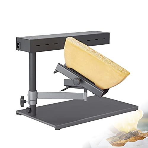 HRTX Einstellbar Käseschmelzer, Schweizer Raclette Grill, Traditionelles Käseschmelzen Neigbar Höhenverstellbar für Pizza, Brot, Gemüse