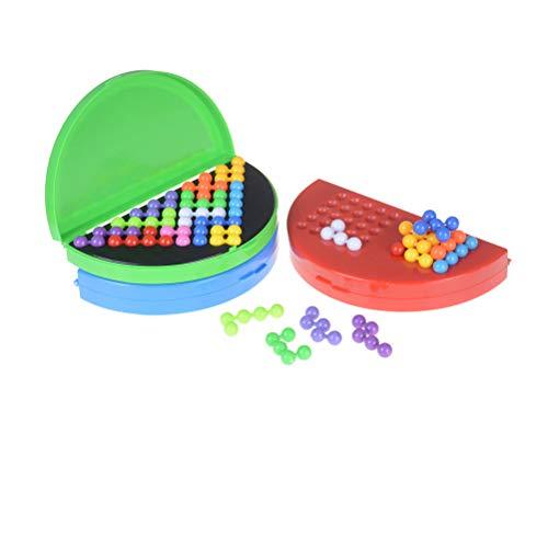 XKMY Juego de rompecabezas para niños clásico rompecabezas pirámide placa IQ perla lógica mente juego para niños pirámide cuentas rompecabezas cerebro Teaser juguetes educativos