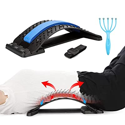 Amazon - 50% Off on Back stretcher, multi-level lumbar support Stretcher , back stretching device to relieve lumbar back pain