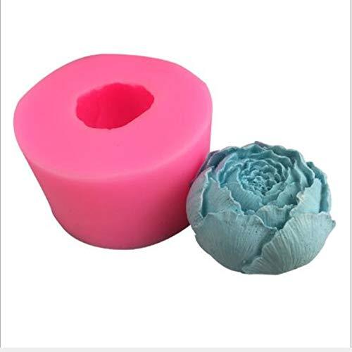 HLIANG KerzengießForm 3D Silikon Kerzenform DIY Seifenform Handwerk Dekoration Home Kuchen Schokolade Clay Crafts Kunst Mold Food Grade Tool Kerzenform Zum GießEn (Color : Pink)