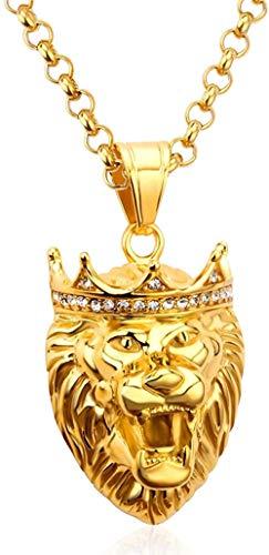 ZPPYMXGZ Co.,ltd Necklace Stainless Steel Necklace Women Stainless Steel Lion Head Pendant Necklace Women Men Necklace Jewelry Party Hiphop Jewelry