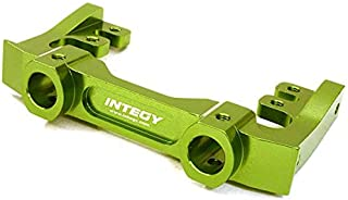 Integy RC Model Hop-ups C27016GREEN CNC Machined 40mm Type Front Bumper & Steering Servo Mount for Axial SCX-10