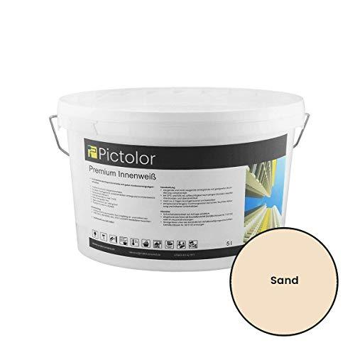 Pictolor Premium Innenweiß 5 Liter Sand
