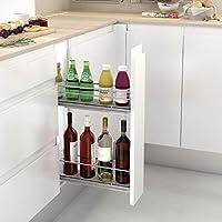Casaenorden - Botellero extraíble lateral de rejilla para mueble de cocina, 150 mm/Lado Derecho