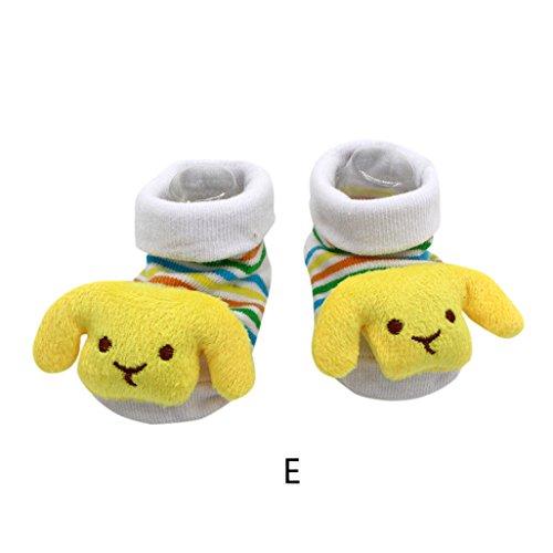 Vovotrade 15 verschillende karikatuur pasgeborenen baby jongens antislip sokken toevoer schoen opladingen (E)