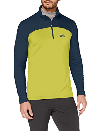 Millet - Seneca Tecno Po M - Felpa in pile Sportiva Uomo - Avvicinamento, Hiking, Trekking - Giallo/Blu