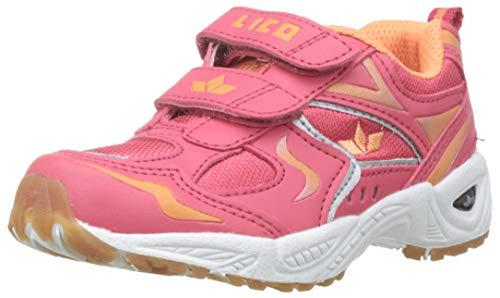 Lico Mädchen Bob V Multisport Indoor Schuhe, Mehrfarbig (Lachs/Orange), 34 EU