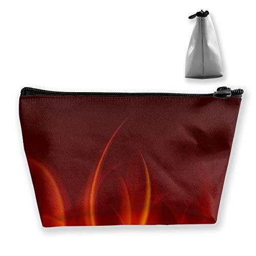 Brennende Feuerflammen Reißverschlusstasche Münzorganisator Make-up Costmetic Bag Office Storage