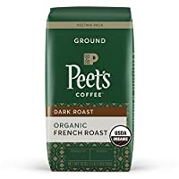 Peet's Coffee Organic French Roast, Dark Roast Ground Coffee, 18 oz from Peet's Coffee