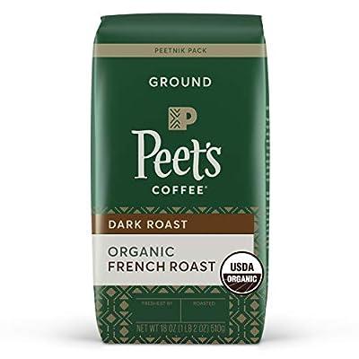 Peet's Coffee Organic French Roast, Dark Roast Ground Coffee, 18 oz