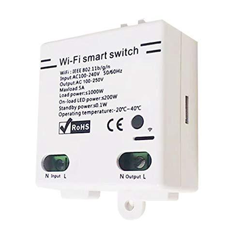 ACAMPTAR Nuevo MóDulo de Interruptor InaláMbrico WiFi para el Hogar Inteligente 5A para el Control de la AplicacióN de Android IOS