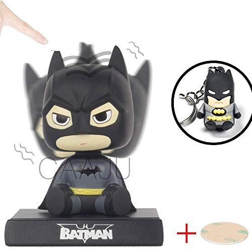 Caaju Kid's Superhero Hero Cartoon Cute Bobblehead Model Collectible Toy, Car Decoration Mobile Phone Holder Dashboard/Office Home Accessories (Batman)