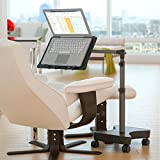 LEVO G2 Rolling Laptop Workstation Stand Cart Desk for Laptops, Books, Tablets, and Art, Made for Sofa, Bed, Chair, or Standing